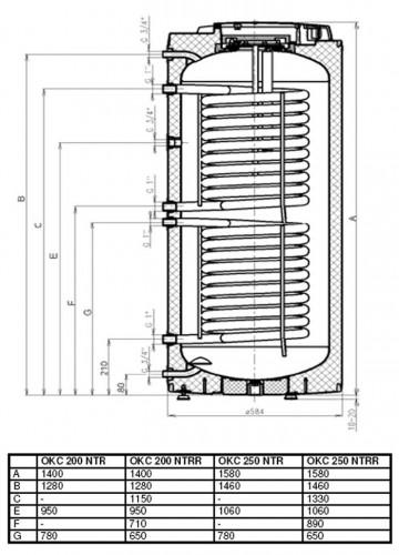 водонагреватель Drazice Okc 200 Ntr инструкция - фото 9