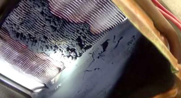 Загрязнение камеры сгорания у колонки
